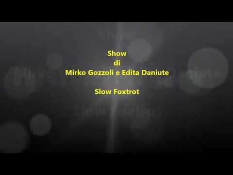 Mirko Gozzoli e Edita Daniute, Slow Foxtrot. Show organizzato da Fiore Menzione e Vladlena Aptukova.