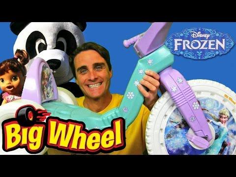 Disney Frozen Big Wheel Race with Baby Alive + Panda !  || Disney Toy Reviews || Konas2002