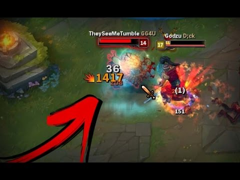 TRYNDAMERE INSANE DAMAGE! [ League of Legends ]
