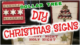 DOLLAR TREE DIY CHRISTMAS SIGNS🎄 | DOLLAR TREE CHRISTMAS DIY