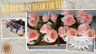 Decorate A Party For $100! DIY Party Decorations