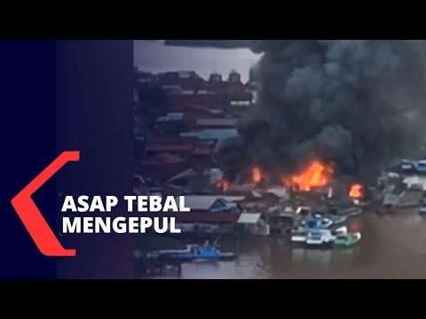 Terjadi Kebakaran Besar di Samarinda, 20 Rumah Hangus