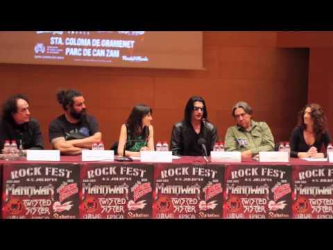 Intervención de Joey DeMaio en la rueda de prensa de presentación de Rock Fest Bcn que se celebró el 9 de Mayo en el Auditori Can Roig i Torres en Sta. Coloma de Gramenet.