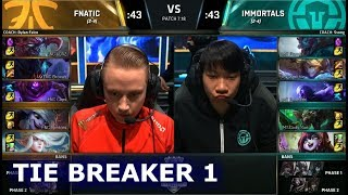 Fnatic vs Immortals Tie Breaker | Day 5 Main Group Stage S7 LoL Worlds 2017 | FNC vs IMT G3 | Kholo.pk