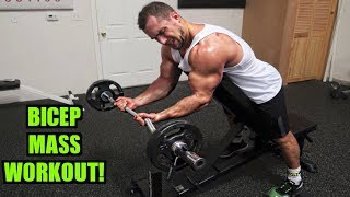 Intense 15 Minute Gym Bicep Workout for Muscle Mass by Anabolic Aliens
