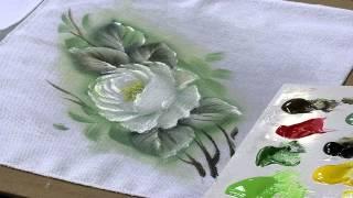 Pano de Copa com Rosas Brancas