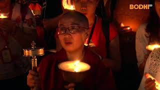 Bodhi TV : Lumbini : Butter-lamp Lighting At Mayadevi Temple, Lumbini