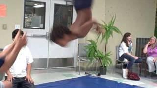 b-boy vashaun and b-boy kingdom flip practice