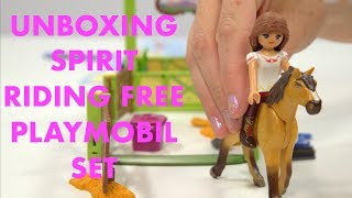 Spirit Riding Free Playmobil Unboxing - Lucky And Spirit With Horse Stall (9478)