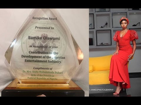 BAMBAM RECEIVED A RECOGNITION AWARD FROM AISHA BUHARI