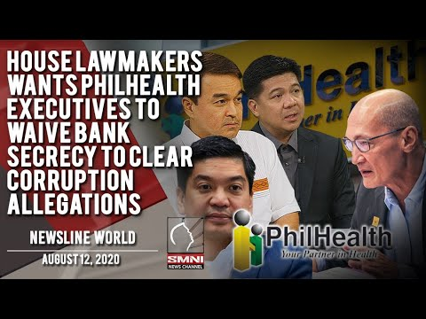[SMNI]  HOUSE LAWMAKERS WANTS PHILHEALTH EXECUTIVES TO WAIVE BANK SECRECY TO CLEAR CORRUPTION ALLEGATIONS