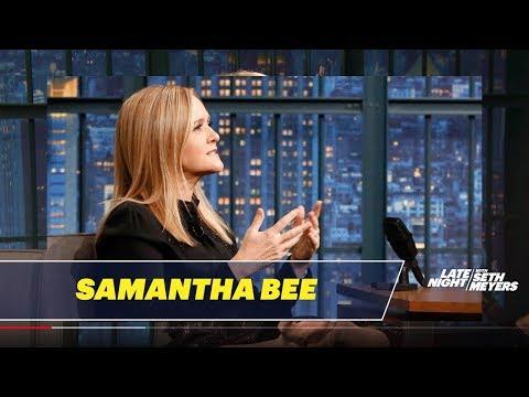 Samantha Bee Carved a Message into John Oliver's Last Week Tonight Desk