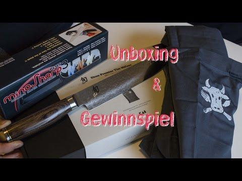 Unboxing Shun Premier Schinkenmesser und MonSharp3 Plus Gewinnspiel -- tobias.grillt.de