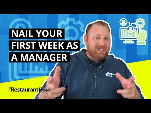 RESTAURANT MANAGER TRAINING: Your First Week - YouTube