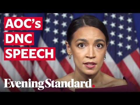 Alexandria Ocasio-Cortez delivers powerful speech at the Democratic National Convention