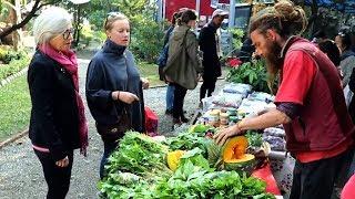 काठमाण्डौंमा भेटिए साग बेच्दै गरेको विदेशी, यस्तो छ उनको लक्ष्य - Charlie Baba Farming in Nepal