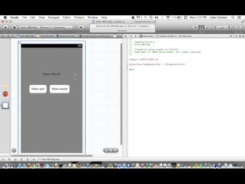 Basic objective-c Programing: Button and Label