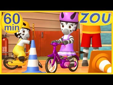 Zou en Français 🏀 JOURNÉE SPORTIVE 🏸 60 min COMPILATION   Dessins animés