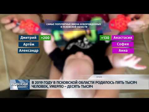 Новости Псков 15.01.2020 / В 2019 году в области родилось больше всего Дим и Насть