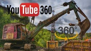 Ruston Bucyrus 22-RB Drag shovel 360 Degree Video