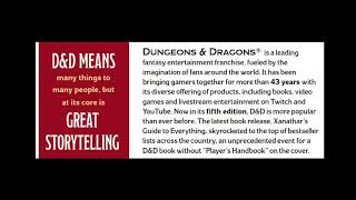 D&D — Some people have been going around telling stories