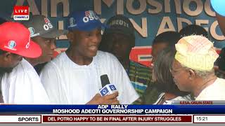 Osun ADP Gov'ship Candidate Adeoti Vows To Free Osun From Shackles If Elected Pt.6 |Live Event|