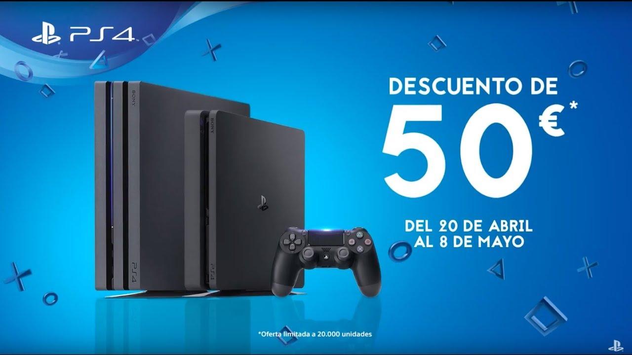 Ahora tu PS4 con 50€ de descuento