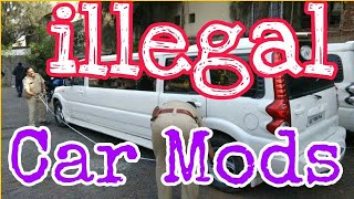Illegal Car Modifications in India | illegal custom car modifications |