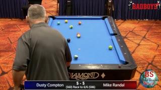 2019 MICHIGAN BCAPL STATE CHAMPIONSHIPS 8 Ball Dusty Compton vs Mike Randal