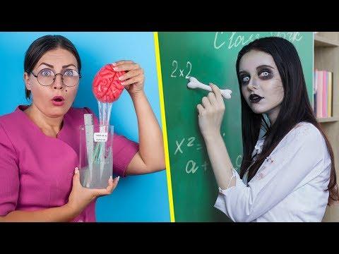 स्कूल में जोम्बीज़! / 12 DIY स्कूल की जोम्बीज़ चीज़ें
