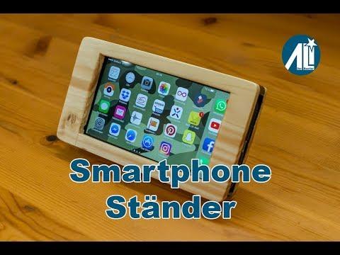 ✅ Smartphone Ständer aus Resten (Smartphone Stand from Scrap Wood)