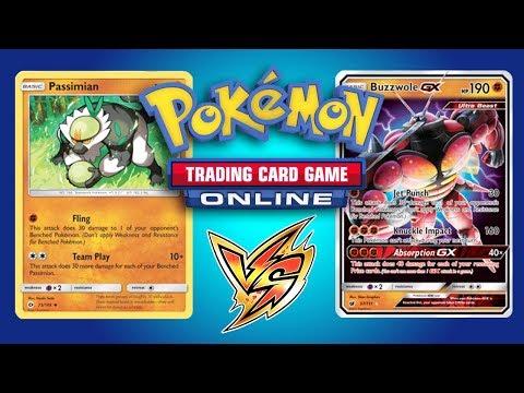 Passimian / Mew vs Buzzwole GX / Lycanroc GX – Pokemon TCG Online Game Play