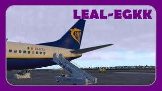 Approaching Valencia Airport [LEVC] | Ryanair FR1918 | ZIBO 737-800