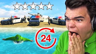Surviving A 5 STAR WANTED LEVEL For 24 HOURS In GTA 5!