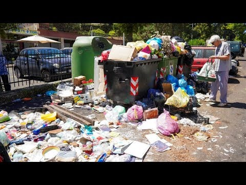 羅馬街頭垃圾堆積如山 惡臭腐敗恐危健康 20190627 公視晚間新聞