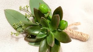 How To Make A Boutonniere With Succulents
