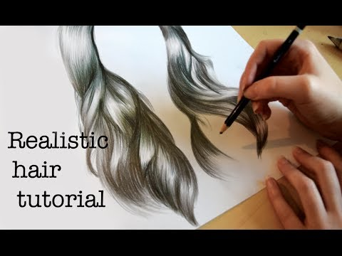 how to draw realistic hair emily