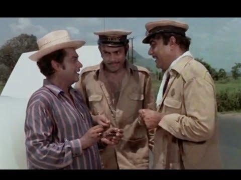 Bombay To Goa Funny Scenes - Mehmood Meets Kishore Kumar