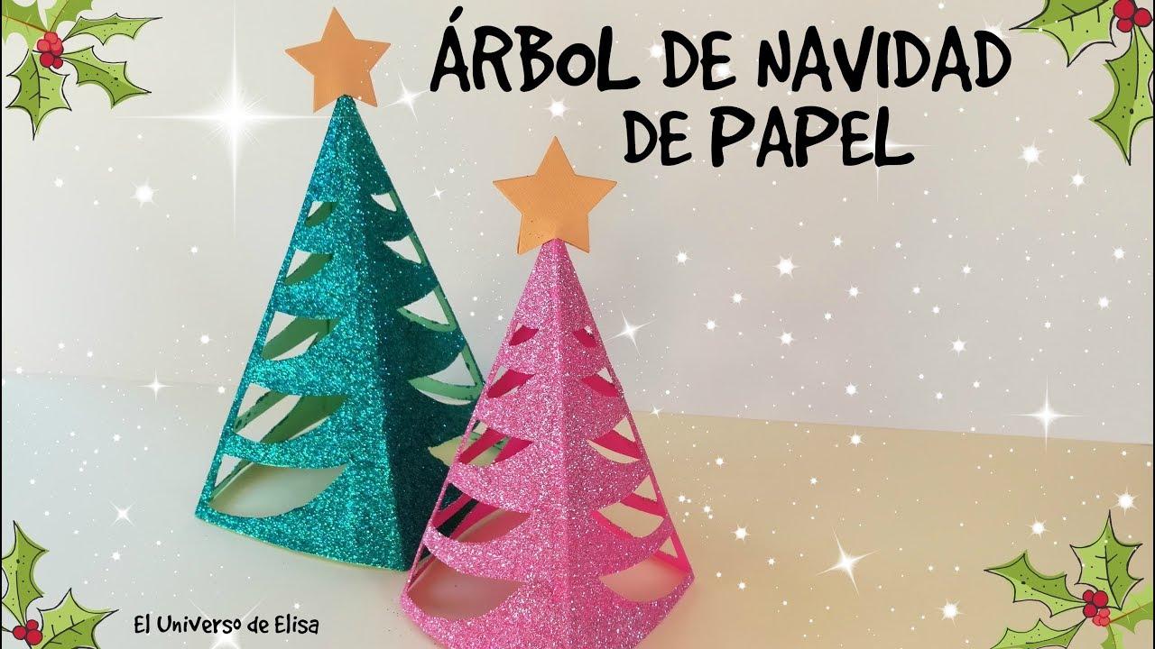 Árbol de Navidad de Papel, Manualidades para Navidad, Paper Christmas Tree, Pino de Navidad