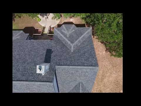 Roof Replacement in Lytle, Texas with Owens Corning Estate Gray TruDefinition 30yr Shingles.  The attic ventilation was upgraded to Owens Corning ridge vent and rhino roof synthetic underlayment was used  for an extra layer of protection .