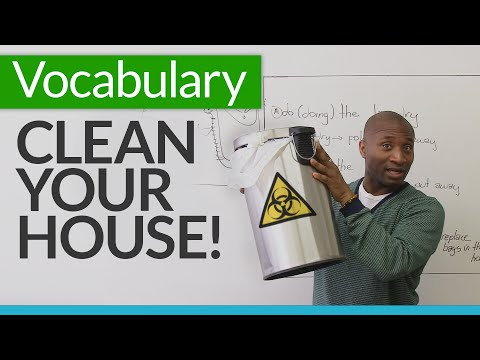 Learn Basic English Vocabulary For Cleaning Your House Mp3