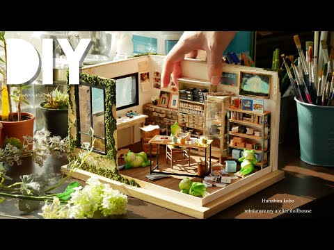 creating a miniature atelier house and its furnishings.