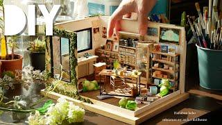 DIY☺︎miniature My Atelier Dollhouse ミニチュアHanabira工房の仕事部屋 Retro (antique) Furniture レトロな家具の作り方~
