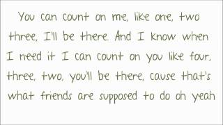 Bruno Mars - Count On Me Lyrics ♥ HD
