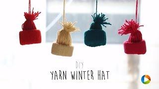 DIY : Yarn Winter Hat Ornaments