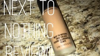 MAC NEXT TO NOTHING REVIEW!!