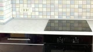 Кухня фото № 61 фасад постформинг цвет Белая - фиолетовая. от компании Фаберме - видео 2