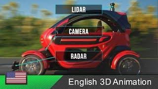 Autonomous car / self-driving car - How it works! (Animation)