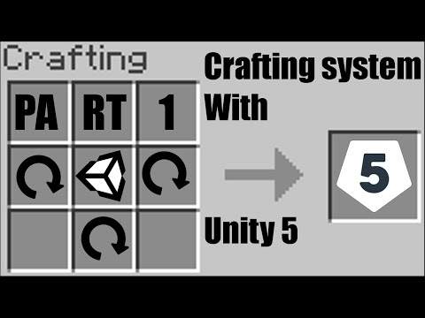 Unity 5] Tutorial: How to make a Crafting system like in Minecraft