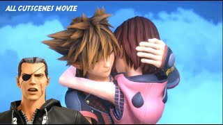 Kingdom Hearts 3 Remind DLC All Cutscenes Movie With ENDING